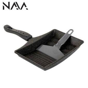 Harga [Imported] NaVa Kitchen-Art Korean Non Stick Egg Role Omelette Frying Pan Free Spatula