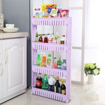 Harga Movable 4 Layer Multifunction Storage Rack-Purple