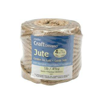 Harga Darice 340311 Craft Designer Jute 4 Ply 1lb 135 Feet-Natural