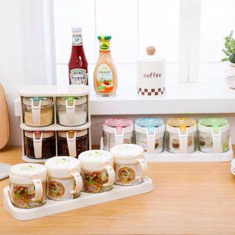 Harga Set of 4 Clear PP Seasoning and Dry Fruits Organizer