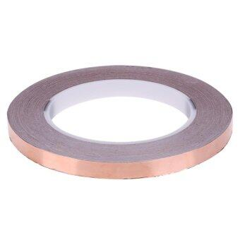 Harga 30 Meters Single Side Adhesive EMI Shielding Heat Resist Copper Foil Tape(Gold)-8mm