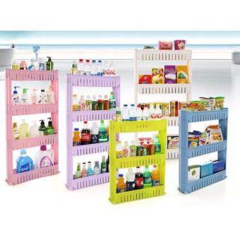 Harga Multi-Purpose 4 Layer Movable Portable Storage Rack