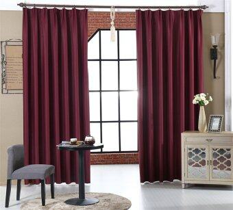 Harga New Red European Window Curtain Panels Blackout Curtains for Bedroom 100cm*130cm
