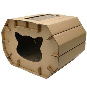 Harga Cat Love Cozy Cat Scratcher Den with Catnip Cat Scratching Board