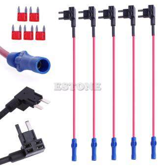 Harga 5x ATM Fuse Mini Adapter tap Dual Circuit Adapter Holder For Car Auto Truck Hot