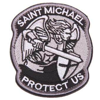 Harga LALANG Saint Michael Tactical Badge Morale Velcro Military Patch