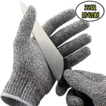 Harga 5 Level Cut Resistant Gloves High Molecular Weight Polyethylene Fiber Kitchen Work Savety-tool - L