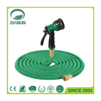 Harga Rubber water garden hose Magic flexible Stretch Hose with 7 function spray gun