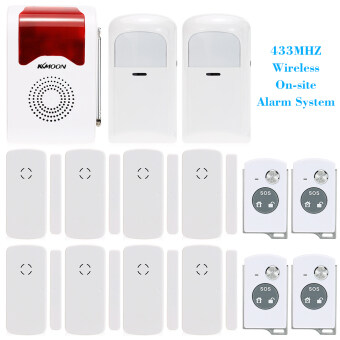 Harga 433MHZ Wireless On-site Home Security Burglar House Alarm System