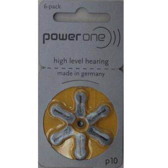 Harga P10 PowerOne Zinc Air Hearing Aid Battery 1.45V - A Pack of 6 Pieces