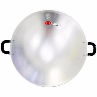 Harga Thailand CCH Crocodile Brand Non-Stick Aluminium 2 Two Handles Fry Cooking Pan 17inc