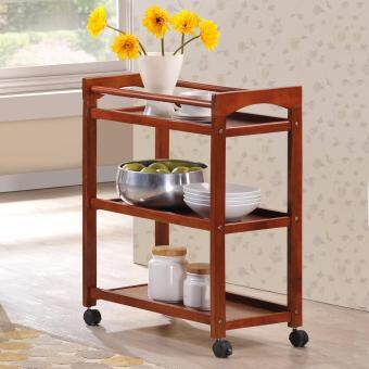 Harga HK TR1194 3 TIER KITCHEN CART / TROLLEY (DIRTY OAK)