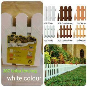 Harga BABA 307 PLASTIC FENCING ( 4 PCS ) - WHITE - GARDEN TOOLS DECORATION