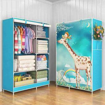 Harga Modern One-Piece Roll Up Curtain Clothes Wardrobe - Giraffe