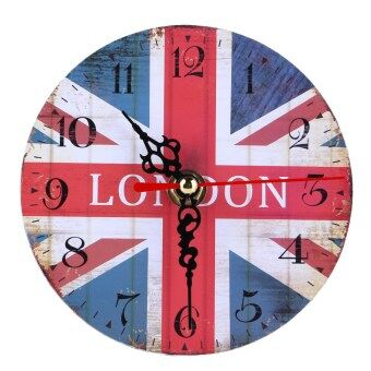Harga Vintage Wooden Wall Clock British Union Jack