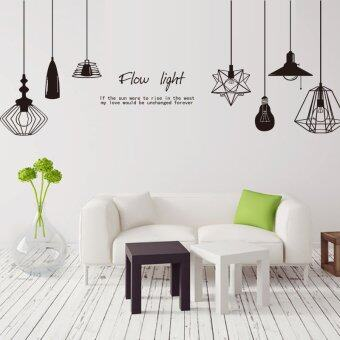 Harga Wall Decals Personalized Chandelier Decorative PVC Wall Stickers