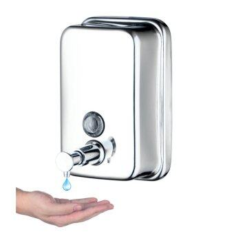 harga 500ml hand soap dispenser wall mounted soap liquid shampoo sanitizer dispenser box bathroom accessories