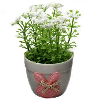 Harga Artificial Flowers Plants In Pot Home House Office Indoor Outdoor Decor – White