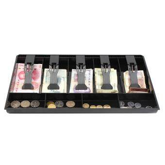 Harga 2PCS New Cash Coin Register Insert Tray Replacement Money Drawer Storage Black