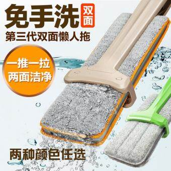 Harga Hand Free Mop / Lazy Mop - 360 Degree Double Sided Flat Mop Free Hand Washing