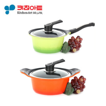 Harga [Kitchen Art Pot Set] Two Hand Pot 20cm + One Hand Pot 18cm / Metal casted / Ceramic coating / cooking pot / frying pan /Korea Number one Pot