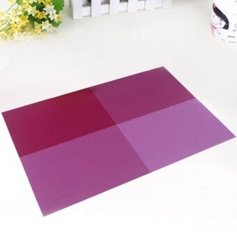 Harga 6pc Placemats Coasters Waterproof Insulation Mat Kitchen Dining Table (Purple)