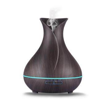 Harga Essential Oil Diffuser, Gogerstar 400ml Aroma Diffuser Wood Grain Cool Mist Humidifier Air Purifier with LED Color Lights Changing for Home, Office, Baby Room, Living Room, Yoga, Spa,Gym