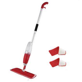 Harga Spray Mop with Microfiber Mop and free one mop pad (RED)