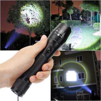 Harga 3000 Lumen Zoomable CREE XML T6 LED 18650 Flashlight Focus Torch Zoom Lamp Light