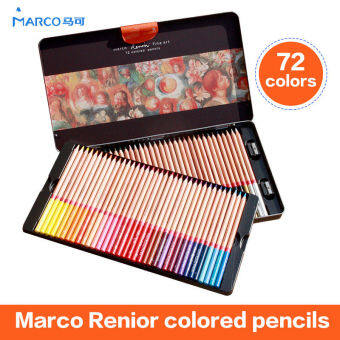 Harga Marco 72 Wooden Colored Pencils Renoir Professional Artist Drawing Set Sketching