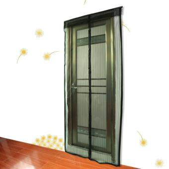 Harga Mesh Screen Anti Mosquito Pest Door Curtain Net with Magnets 210 * 100cm Black