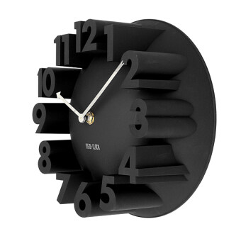 Harga 3D Number Stereo Dome Home Decor Wall Clock Black