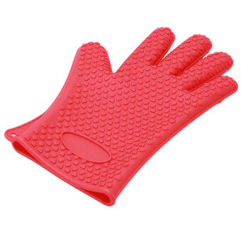 Harga HengSong Environmental Friendly Home Silicon Gloves (Red)