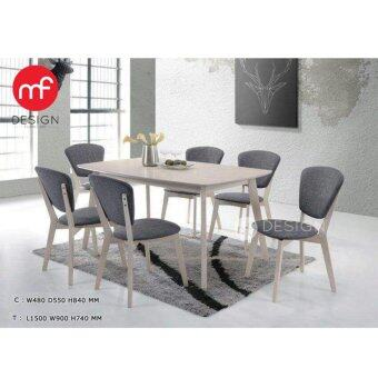 Harga MF DESIGN AUSTRALIA DINING SET 1+6 TABLE / CHAIR
