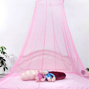 Harga Ai Home Dome Mosquito Nets Students Baby Bed Nets Pink