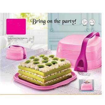 Harga Tupperware Fresh & Fancy Cake Carrier Pink 6L