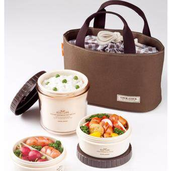 Harga Lock & Lock Bento Lunch Box Set Multi Round w/3 Containers + Bag