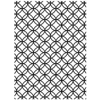 Harga Darice Interlocking Circles Background Embossing Folder A6