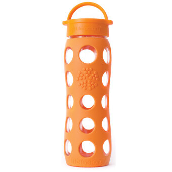 Harga Lifefactory Glass Bottle - 22oz (650ml) - Classic Cap - (Orange)