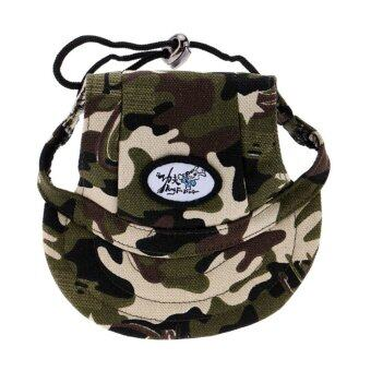 Harga BolehDeals Small Pet Dog Cat Kitten Camouflage Baseball Hat Strap Cap Sunbonnet M