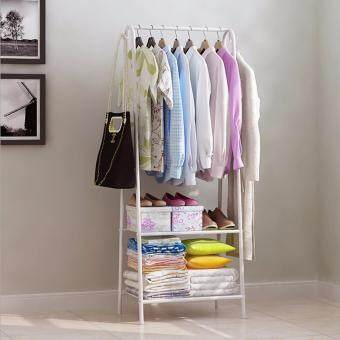 Harga NaVa Multipurpose Studio Bedroom Clothes Garment Organizer Rack (WHITE)