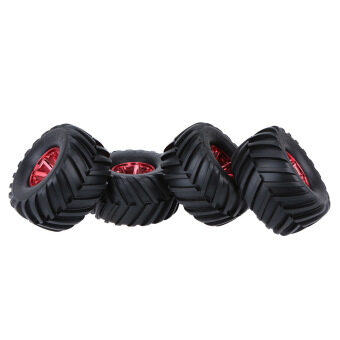 Harga 4Pcs/Set 1/10 Monster Truck Tire Tyres for Tra x x as HSP Tamiya HPI Kyosho RC Model Car