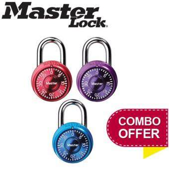 Harga MASTER LOCK 1533TRI Mini Combination Locks (3-Piece Combo Set) (Imported from USA)
