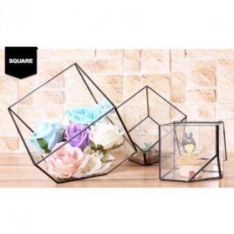 Harga Little Glass House Decoration-Square