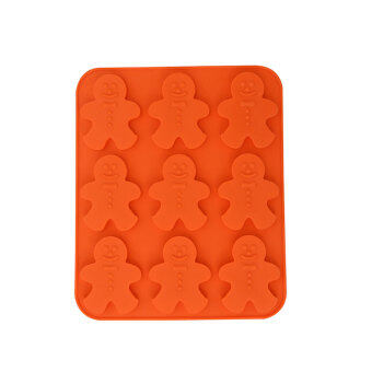 Harga Silicone Gingerbread Chocolate Mould (Orange)