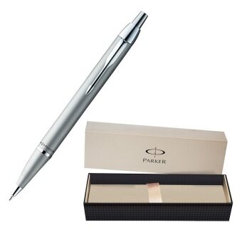 Harga Parker Writing Instrument since 1888 IM Collection All-Metallic Ballpoint Pen - Silver with Silver Trim