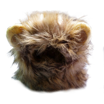 Harga Y125 Pet cat Dog Costume Lion Mane Wig Hat for Dog Cat Halloween