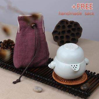 Harga Tea Sets Chinese Kung Fu Tea Set Ceramic Teapot Tea Cup Portable Travel Tea Set(Green)