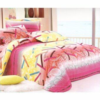 Harga CK ITALIA Multi-Colors Pattern Bedsheet - King