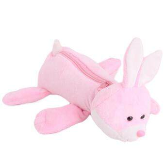 Harga Ai Home 2016 Kawaii Fashion Plush Pen Bag Animal Form Pencil Bags School Tools Pink rabbit